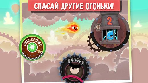 Огонек Прыг-скок спешит на помощь - Pyro Jump Rescue Screenshot