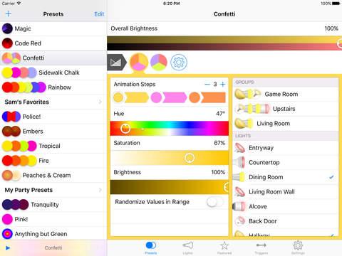 Lightbow for Philips hue / LIFX / Belkin WeMo Screenshots