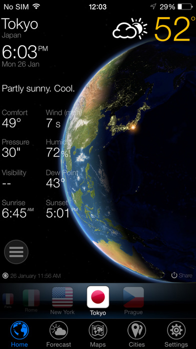 3D Earth - weather and forecast Screenshots