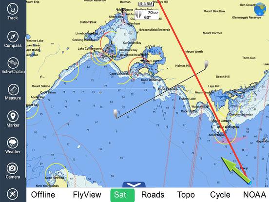Marine: Melbourne HD - GPS Map Navigator iPad Screenshot 3