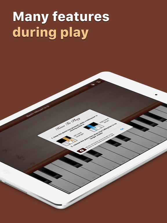 Grand Piano - Learn how to play popular songs on a full size keyboard with customizable sound and metronome screenshot