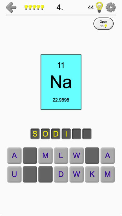 Chemical elements and periodic table symbols quiz on the app store iphone screenshot 1 urtaz Images