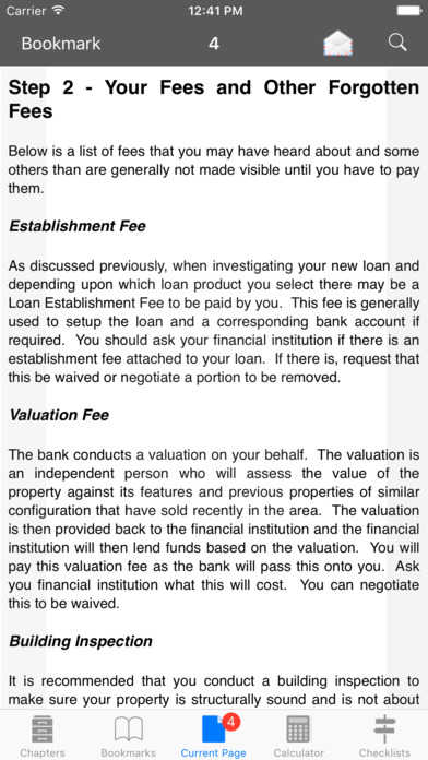 A Home Buyers Book iPhone Screenshot 2