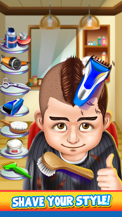 Kids Shave Salon Spa Games (Boys & Girls) screenshot 3