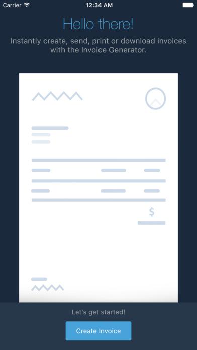 Invoice Generator - Zoho screenshot 1