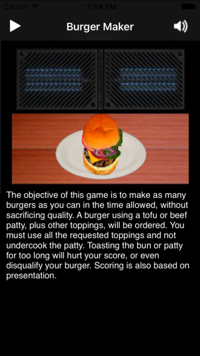 Burger Maker iPhone Screenshot 1