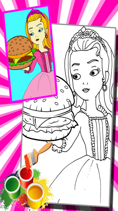 burger sofia girl cooking coloring book game app download