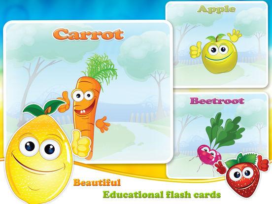 Veggies & Fruits: kids educational games - Englishscreeshot 2