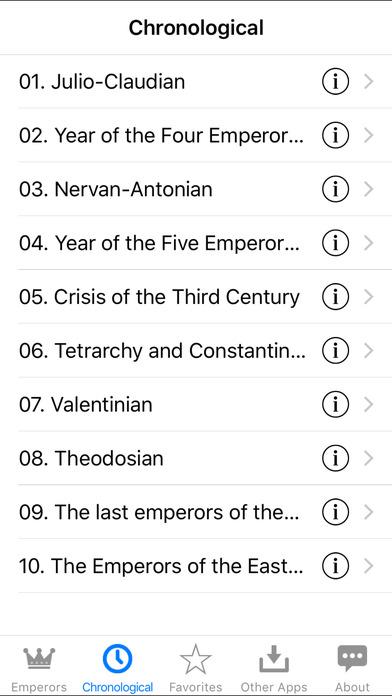 The Roman Emperors iPhone Screenshot 5