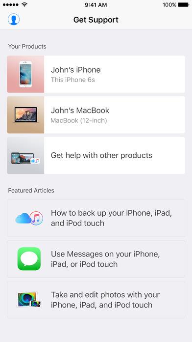 Apple Support screenshot 1