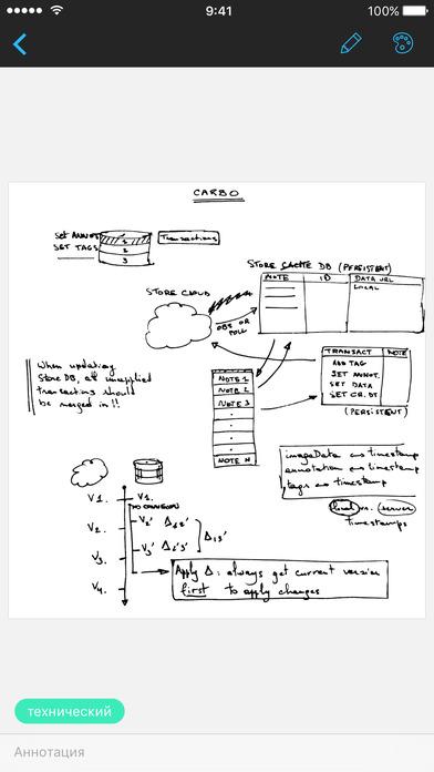Carbo - Рукописные каллиграфические заметки Screenshot
