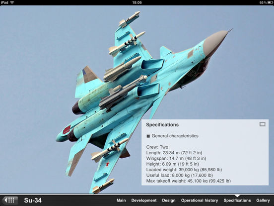 Russian Military Aircraft Appreciate Guide iPad Screenshot 3