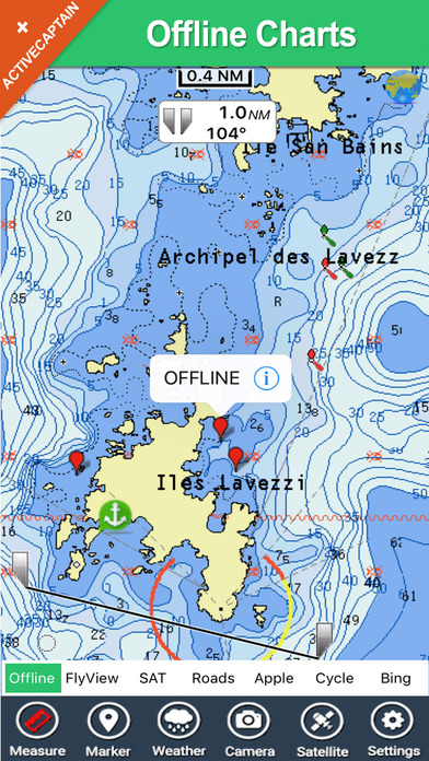 Marine: Hebrides - GPS Map Navigator iPhone Screenshot 2