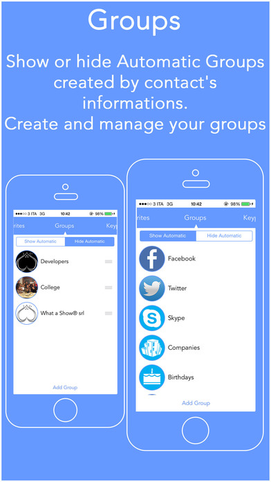 Top Utility Call - Groups, Favorites, Contacts, Outgoing Log History iPhone Screenshot 1