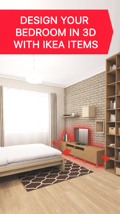Bedroom 3d For Ikea House Interior Design Plan On The