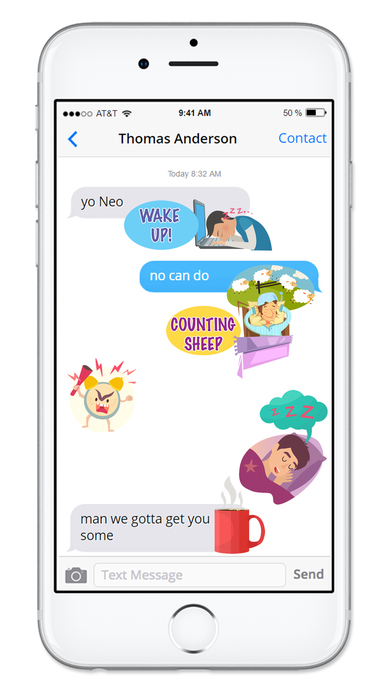 Screenshot of Gotta Sleep Sticker Pack App