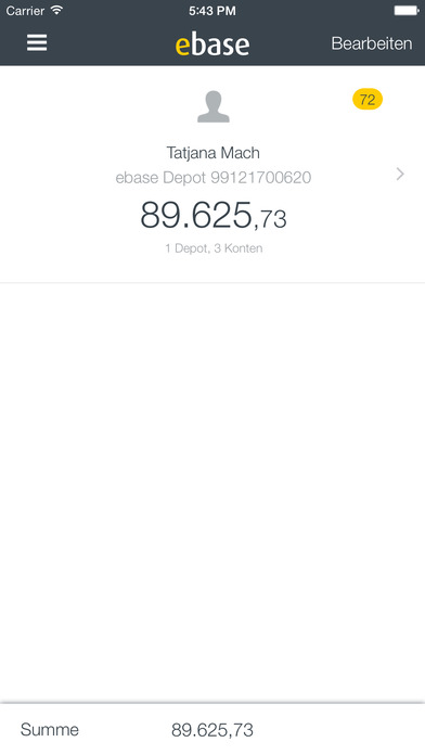 ebase Mobile iPhone Screenshot 3