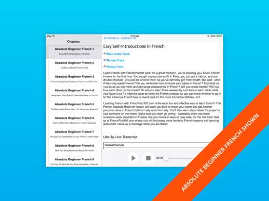 Beginner French for iPad iPad Screenshot 1