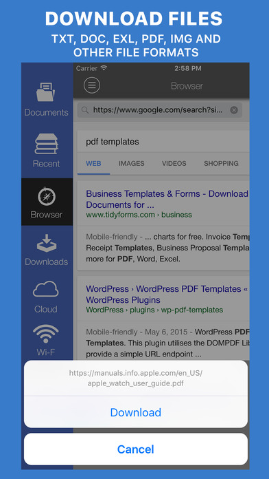 Download & Read PRO – instant office document downloader, file manager & editor Screenshots