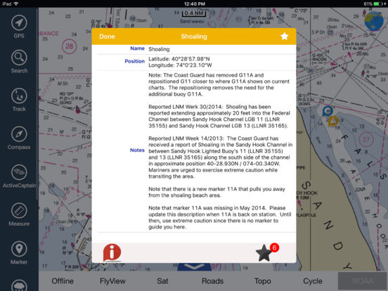 Marine: Brisbane HD - GPS Map Navigator iPad Screenshot 4