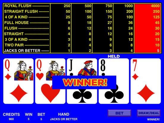Video Poker HD iPad Screenshot 3