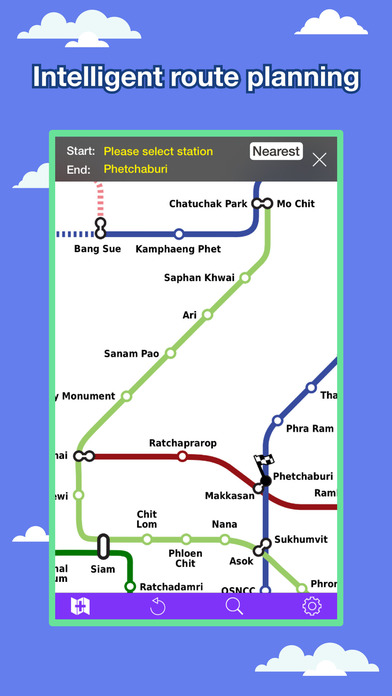 Bangkok Transport Map - MRT Map and Route Planner. Screenshots