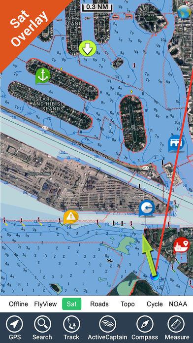 Marine: Rhode Island to Maine - GPS Map Navigator iPhone Screenshot 3