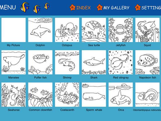 Aquarium Coloring ~Ocean Life~ iPad Screenshot 5