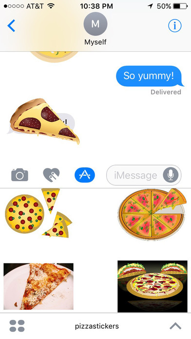 Pizza Stickers for iMessage screenshot 2