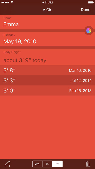 What fits when? Clothing sizes for kids iPhone Screenshot 3