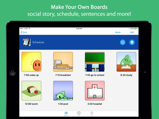 Voice4u AAC - Picture-based communication board Screenshots