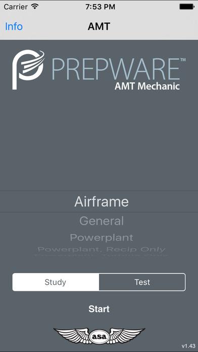 Prepware Aviation Maintenance Technician iPhone Screenshot 1