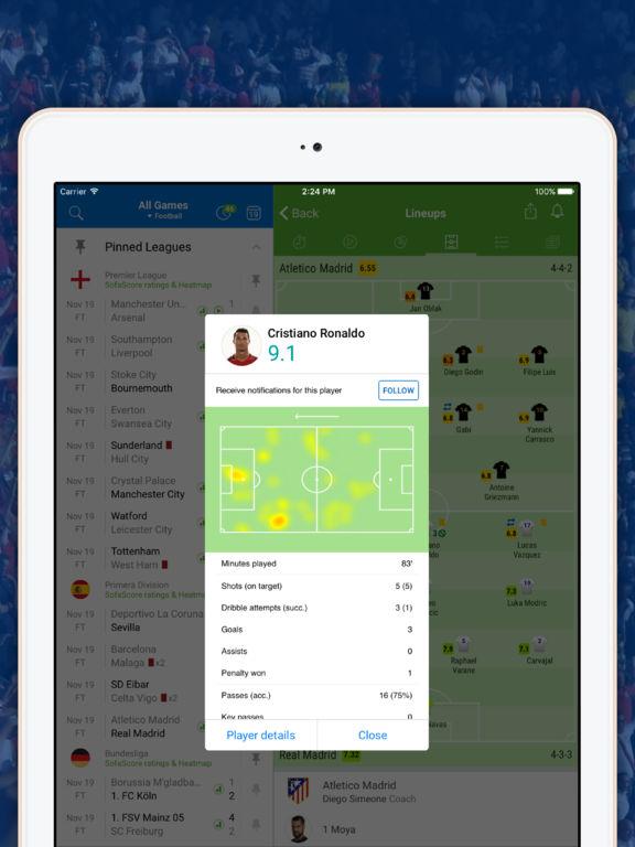 Scores app screenshot 7