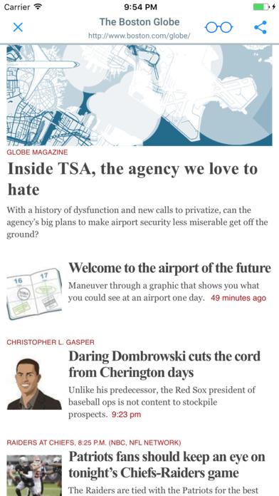 NEWSPAPERS AND MAGAZINES iPhone Screenshot 2