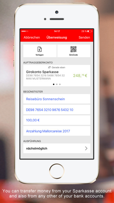 S-Banking - Mobile Banking mit der Sparkasse iPhone Screenshot 5