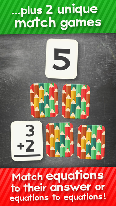 Addition and Subtraction Math Flashcard Match Games for Kids in 1st and 2nd Grade Screenshots