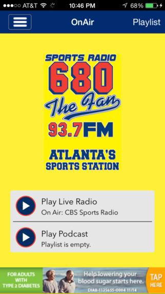 680 The Fan iPhone Screenshot 1