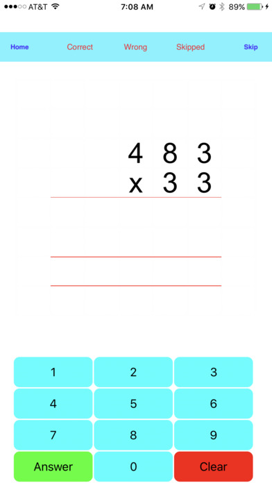 Multiplication Drills iPhone Screenshot 2