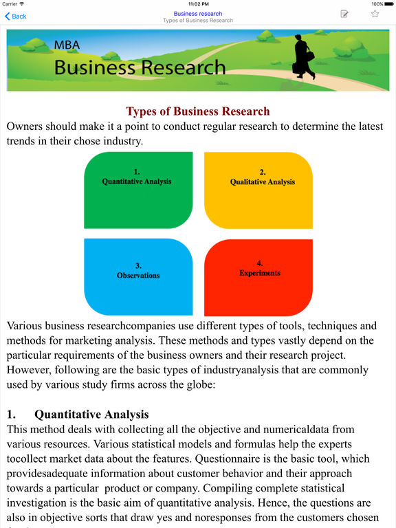 quantitative research business An overview of the types of quantitative research question for a dissertation or thesis.