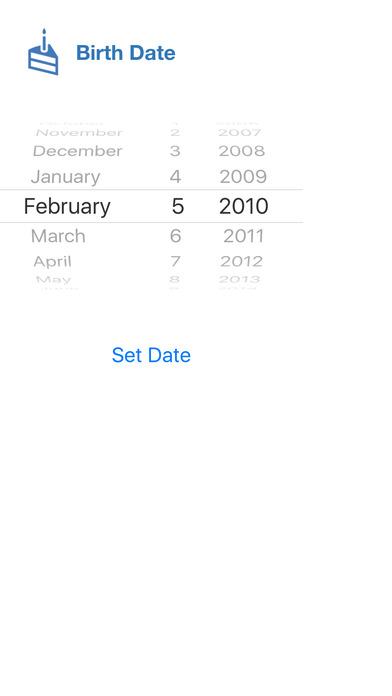 Super Duper Age Calculator iPhone Screenshot 3