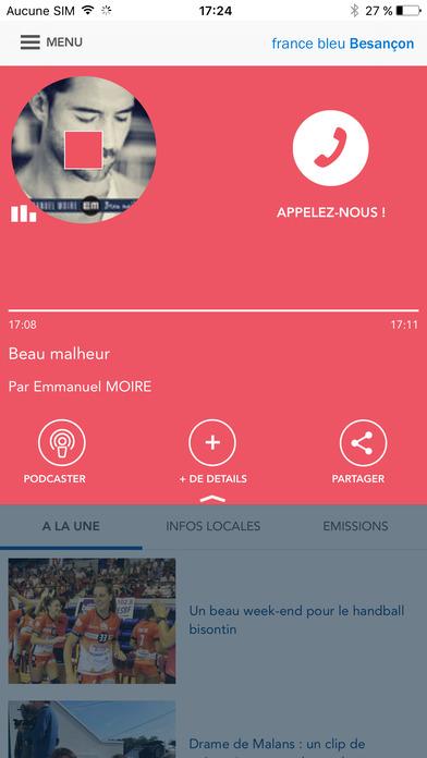 FRANCE BLEU iPhone Screenshot 1