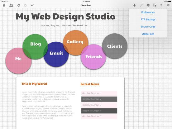 HTML Egg - Web Page Creator Screenshot