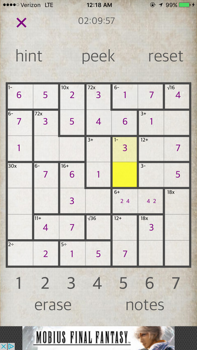 Sudoku Math iPhone Screenshot 5