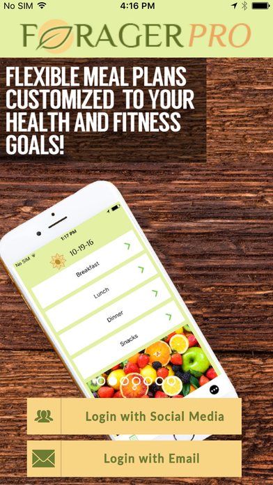 Forager - The Diet Meal Planner and Tracker! Screenshots