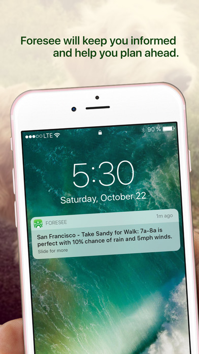 Foresee: Your Personal Activity Forecast Apps for iPhone/iPad screenshot