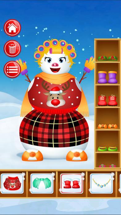 123 Kids Fun SNOWMAN - Decorate your own Snowman! Screenshots