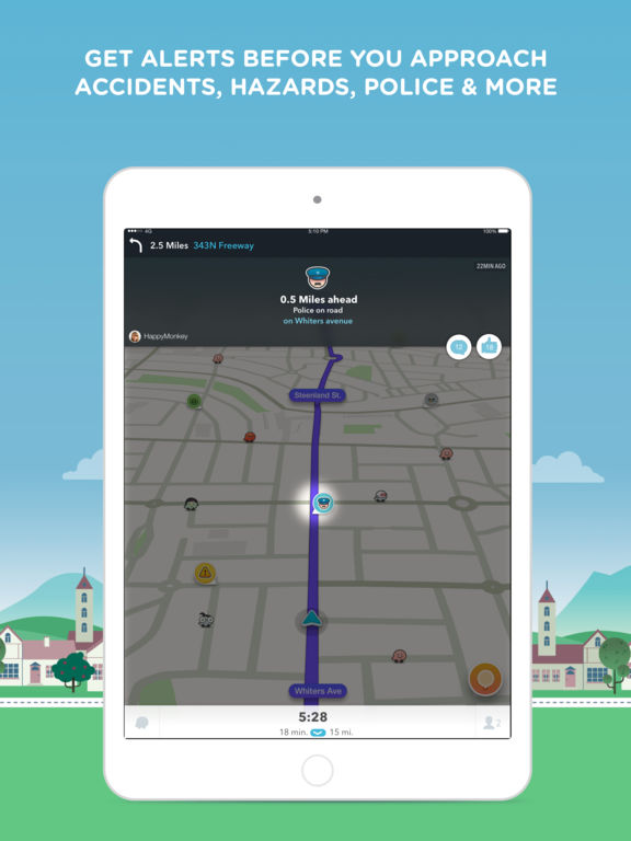 Waze - GPS Navigation, Maps & Real-time Traffic Screenshots