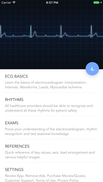 Instant ECG: An Electrocardiogram Rhythms Guide screenshot 2