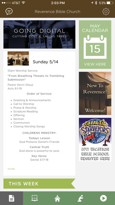 Reverence Bible Church screenshot 3