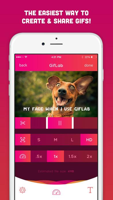 GifLab - GIF Maker & Editor + Share to IG Screenshot